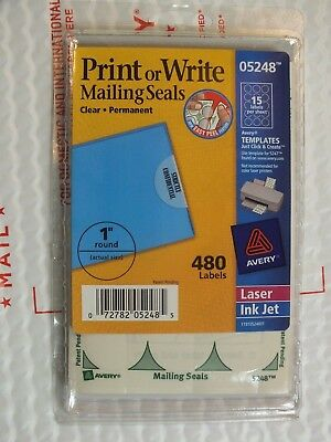 AVERY 5248 Printable Write Mailing Seals Clear 1