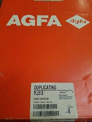 Agfa Duplicating Plus B X Ray Copy Film New Old Stock 100 Nif 35 X 43