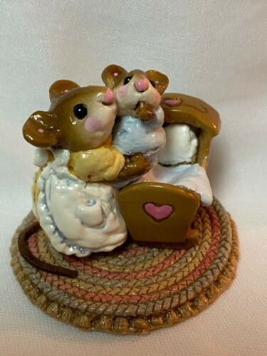Wee Forest Folk Retired Yellow Dress Beddy Bye Mousey