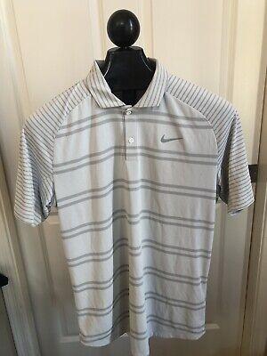 Nike Tiger Woods TW Men's Zonal Cooling Stripe Raglan Golf Polo. Medium