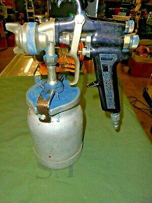 Binks Model 7 Spray Gun And Bottle