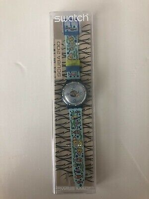 Swatch Watch Collectable: BRAND NEW, Scuba Irony 200, Fish