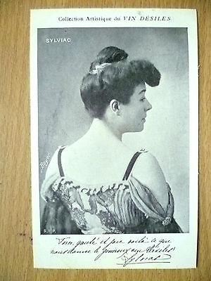 Postcards of Edwardian Theatre & Opera Stars- SYLVIAC pub. by Vin Desiles