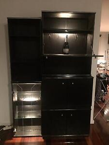 Mix n match black wall unit / cabinets (with lights) West Melbourne Melbourne City Preview