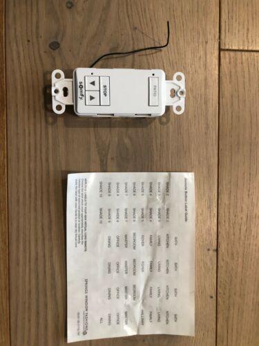 Somfy DecoFlex 1-Channel RTS Wireless Wall Switch 1810897