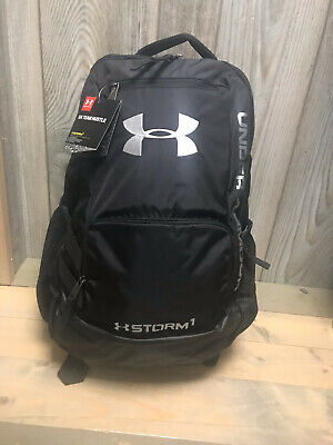 Men's Under Armour Team Hustle Storm Backpack Black(1272782-001)Brand New w/tag