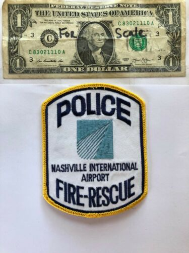 Nashville Airport Police Fire Rescue patch Tennessee Un-sewn great condition