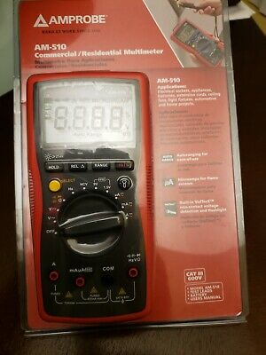 Amprobe Am-510 Digital Multimeter600v40 Mohms10a