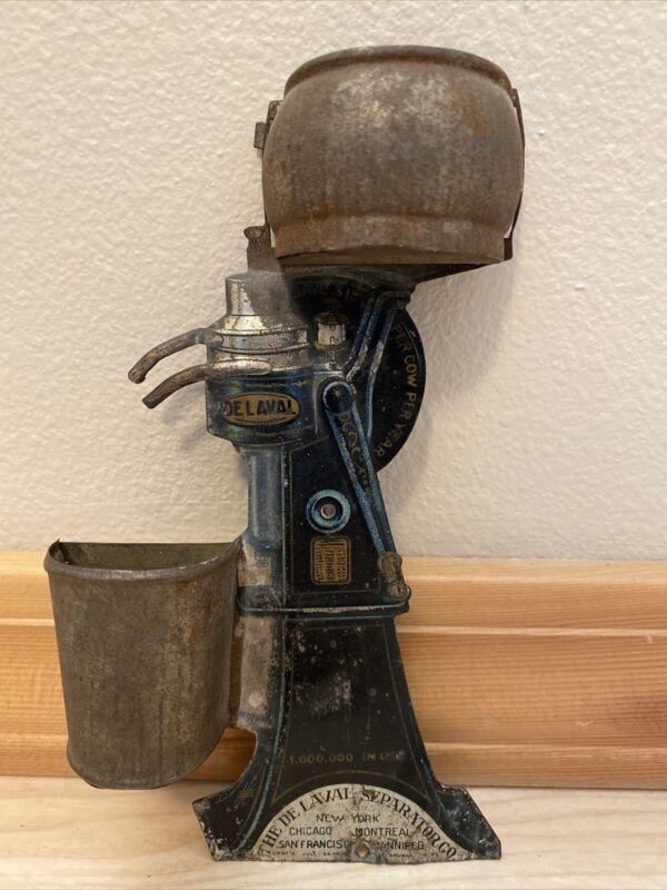 Antique Tin Litho De Laval Match Holder Safe Cream Separator