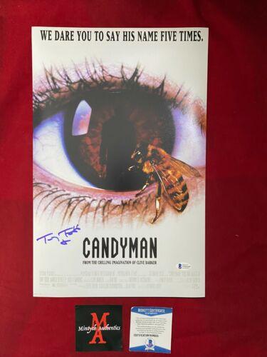 TONY TODD AUTOGRAPHED SIGNED 11x17 PHOTO! CANDYMAN! BECKETT COA! HORROR!