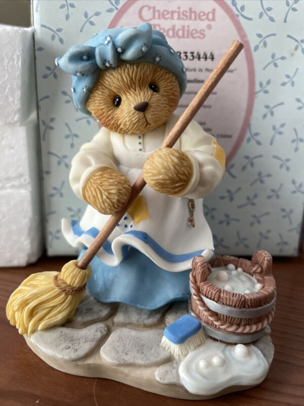 "Cherished Teddies Pauline ""A Woman's Work Is Never Done"" #833444 NIB"
