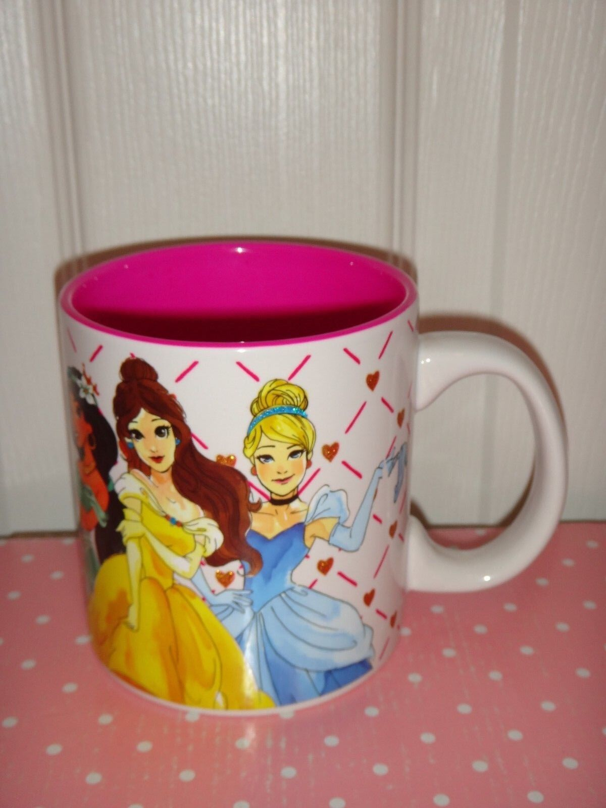 DISNEY PRINCESS Ceramic Pottery Large Coffee Mug Tea Cup Mul