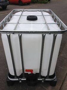 1000 Liter Wassertank GEREINGT! Wasserbehaelter Regenwassertank IBC Tonne!TOP!