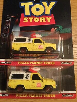 2019 Hot Wheels New Casting TOY STORY PIZZA PLANET TRUCK TOYOTA PICKUP Lot OF 2