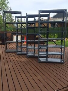 For sale: 4 metal shelving units - $40.  for all 4