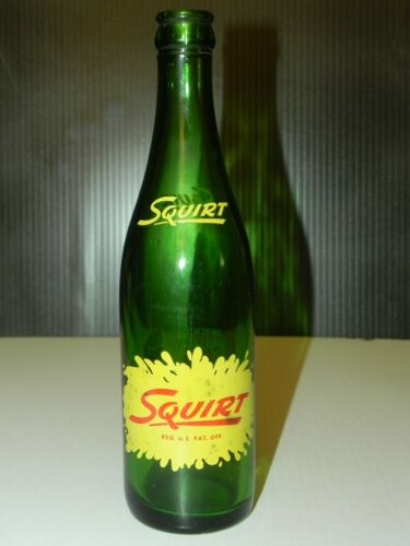 Squirt Soda Bottle 1961 12 oz Squirt Boy Very Rare Size