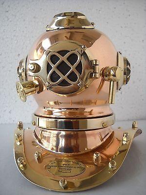 Mark IV U.S. Navy Mini Diving Helmet Deep Sea Divers Helmet Copper & Brass scuba