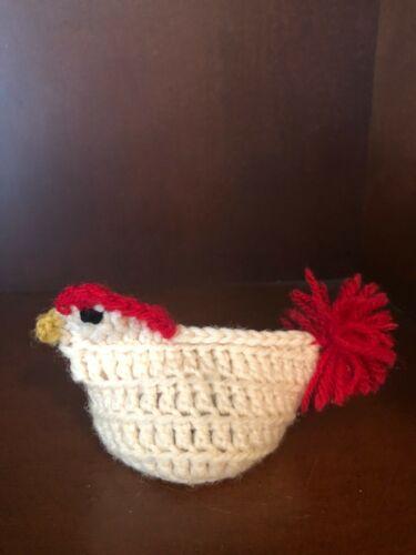 Vintage Crochet Egg Cozie Cover Rooster Handmade