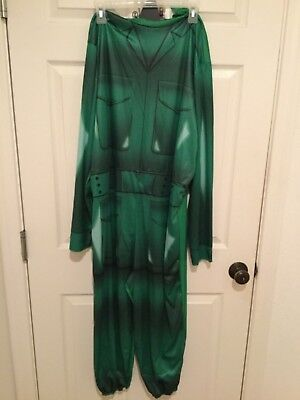 Mens XL 42-46 Halloween Costume GREEN ARMY MAN Toy Story