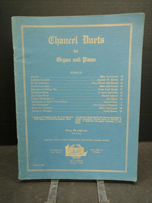 Chantel Duets Organ Piano Sheet Music Song Book Gospel Religious 1940s T84