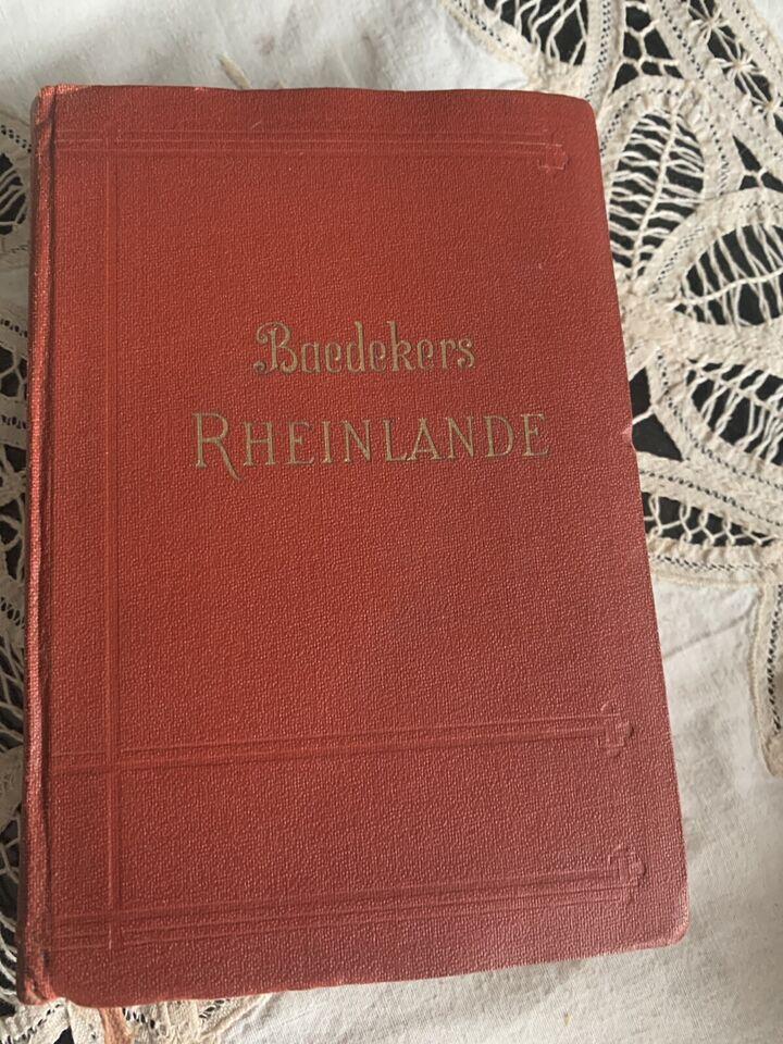 Reiseführer Baedecker Rheinland 1931 Sütterlin antiquarisch in Hessen - Gründau
