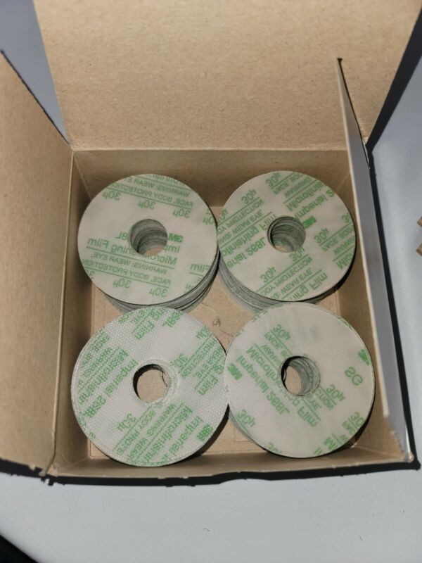 """3M 268L Hookit II 04060 Imperial Microfinishing Discs 30 MIC 3"""" x 7/8"""" 200"""