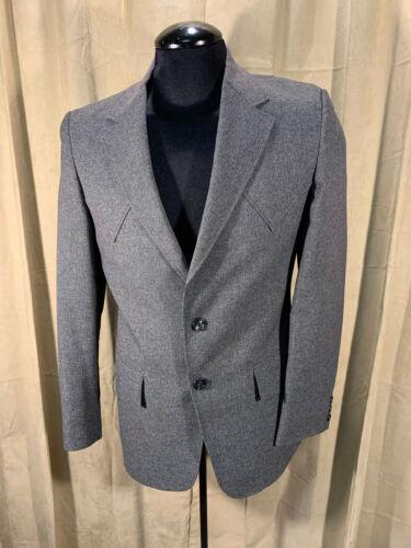 Mens Vintage 1950s H Bar C Western Blazer Size 38R Gray 2 Button