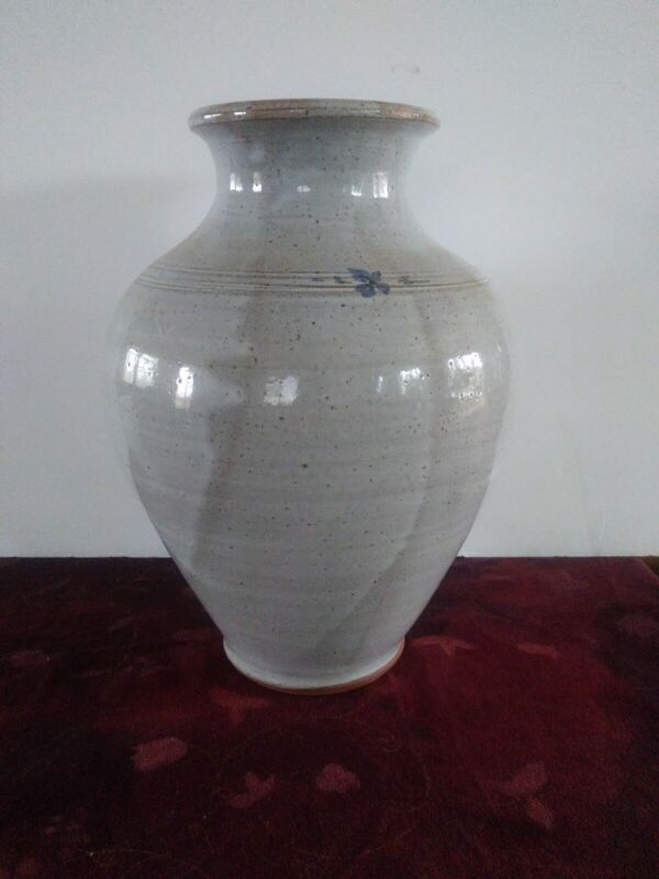 """M.L. Owens 11"""" Pottery Vase Signed Seagrove. N.C"""