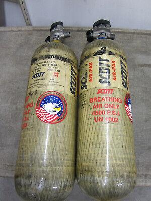 Qty. 2 Scott 45 Minute Scba Carbon Air Bottle Tanks