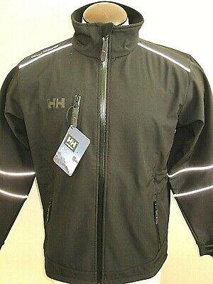 Helly Hansen Mens Barcelona Softshell Fleece Lined Jacket Black Sz Large NWT NR