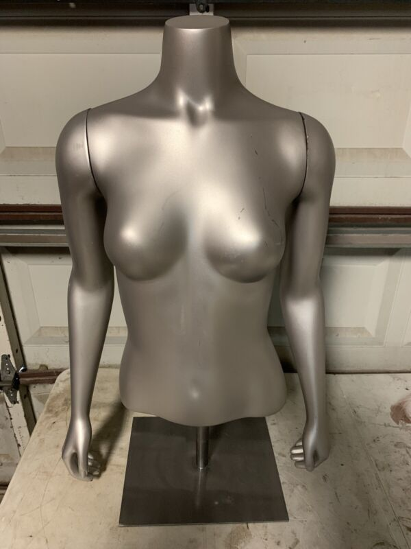 Fusion Female Torso Mannequin With Removable Arms/Base