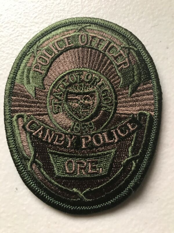 Canby Oregon Police Department Patch Subdued Or