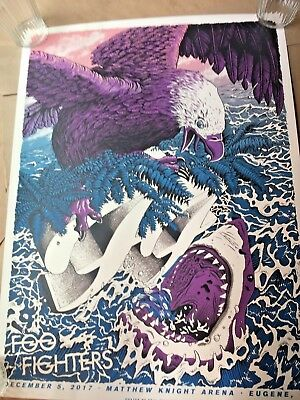 🔥 SIGNED THE FOO FIGHTERS EUGENE OR 12-5-17 NUMBERED POSTER PRINT LTD AP #/100