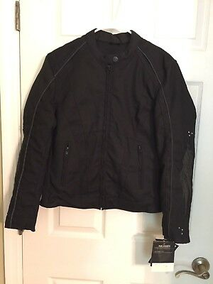 NexGen Women's Textile Scooter Jacket- Black - Reflective-Size XXL Ladies Scooter Jacket