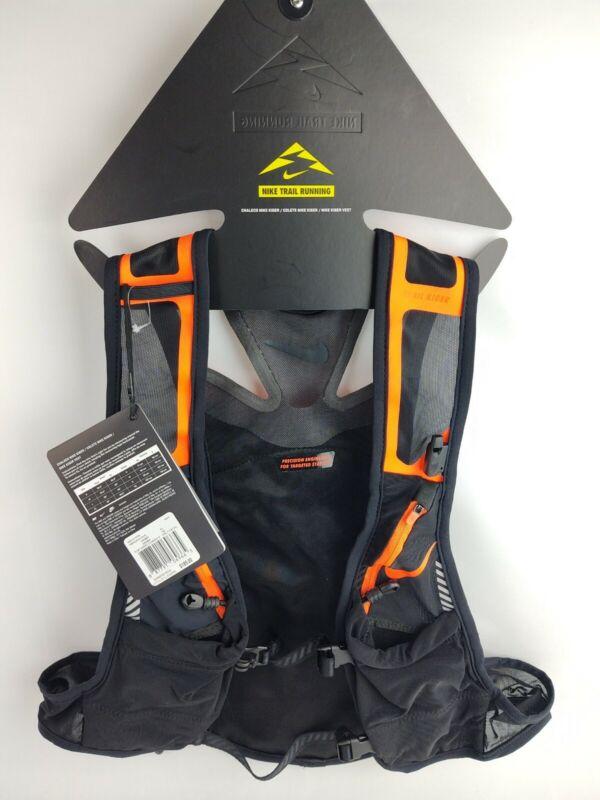 Nike Trail Kiger Vest Running Black & Orange $185 Retail Size XL