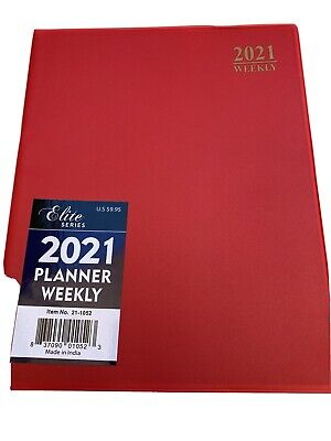 2021 Weekly Planner Red 8x10 Calendar Organizer Elite Appointment Book
