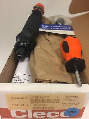 Cleco 19spa03q Pneumatic Screwdriver 5-26in-lbs 14 Hex Push-to-start Rev.