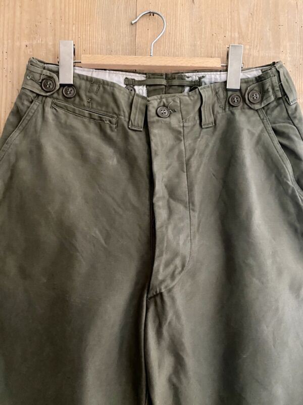 Vintage French KAKHI trouser WORK WEAR moleskine c1950