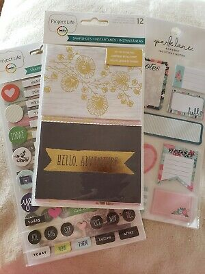 Scrapbooking Stickers And Sticky Notes- Lot Of 3