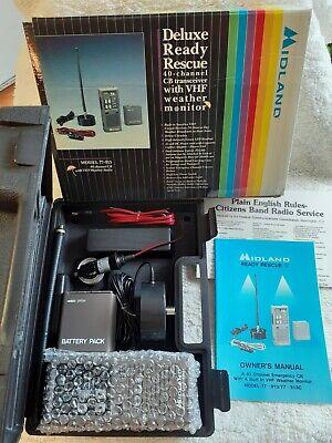 Midland Portable 40 Channel Handheld CB Radio Emergency Ready Rescue Kit NOS
