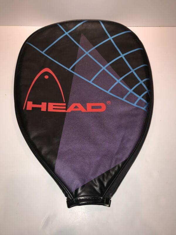 "Head 11.5""x16"" Oversize Single Tennis Racket Lined Head Cover Blue/Black/Purple"