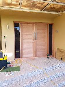 Custom made hardwood doors and windows. Ocean Reef Joondalup Area Preview