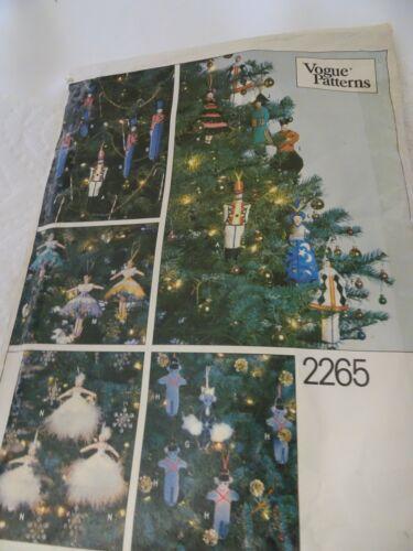 VOGUE Pattern 2265-Christmas Ornaments Nutcracker Ballet-Vintage Uncut-