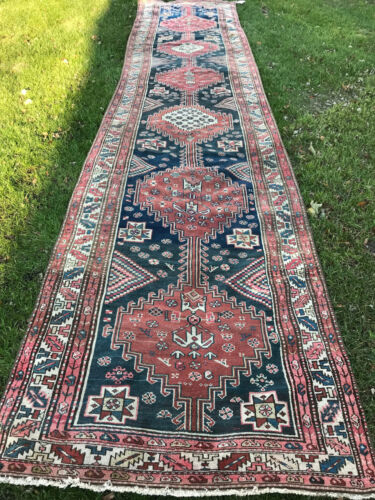 Antique N.w  Persian Runner  Circa 1900 4x18ft