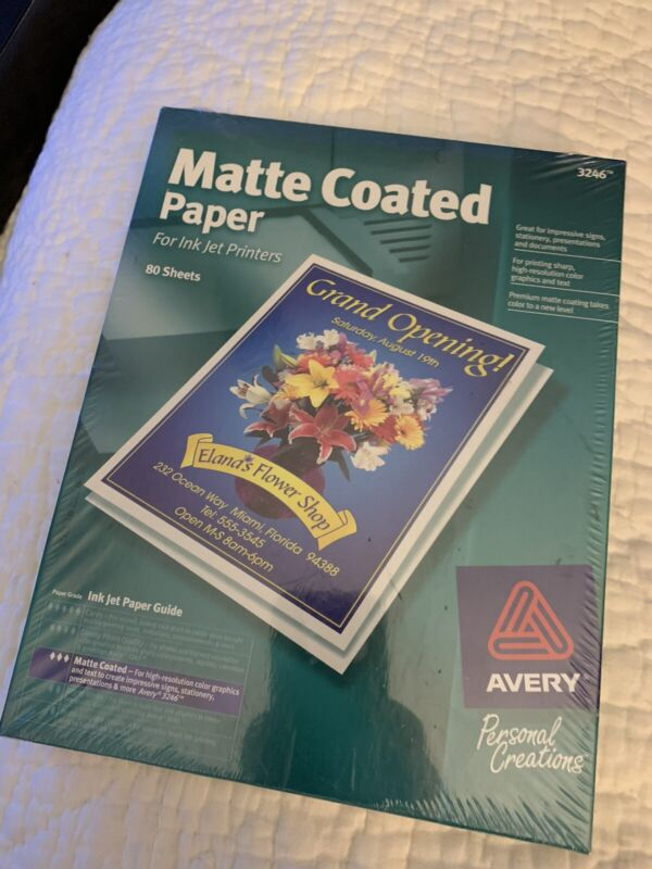 Avery Matte Paper 2 Boxes Of 80 Sheets Each