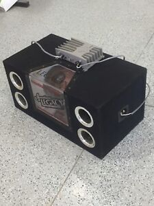 """2 12"""" American Legacy subwoofer with amp"""