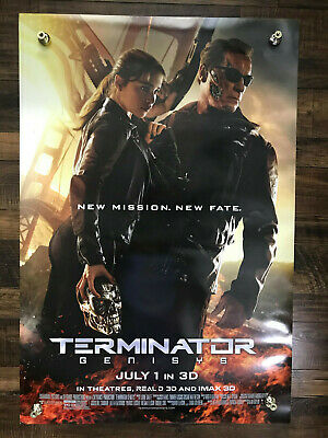 Terminator Genisys Movie Film Theatrical Double 2 Sided Poster 27x40 D/S 2015