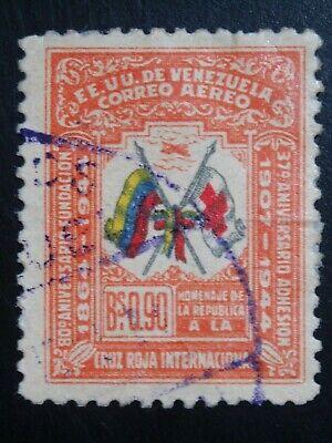 VENEZUELA 1 USED STAMP SC # C187