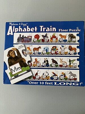 ALPHABET TRAIN FLOOR PUZZLE OVER 10 FT. LONG MELISSA & DOUG