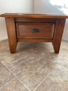 Solid Wooden Square Coffee Table in Good Condition